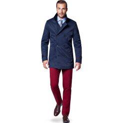 Płaszcz Granatowy Apollo. Niebieskie płaszcze męskie LANCERTO, na zimę, z bawełny, eleganckie. W wyprzedaży za 349.90 zł.