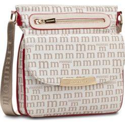 Torebka MONNARI - BAG3220-015 Beige With White. Brązowe listonoszki damskie Monnari, z materiału. W wyprzedaży za 129.00 zł.
