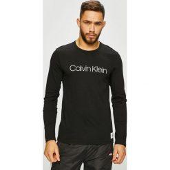 Calvin Klein Underwear - Longsleeve piżamowy. Czarne bluzki z długim rękawem męskie Calvin Klein Underwear, z nadrukiem, z bawełny. Za 179.90 zł.