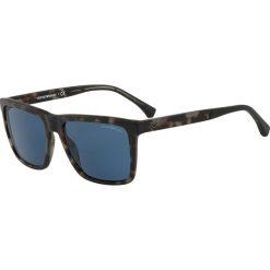 Emporio Armani - Okulary. Brązowe okulary przeciwsłoneczne męskie Emporio Armani, z materiału. Za 499.90 zł.