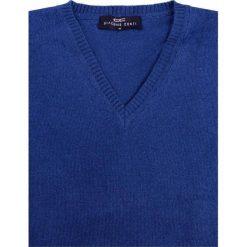 Sweter FABRIZIO SWNR000107. Niebieskie swetry przez głowę męskie Giacomo Conti, z materiału. Za 229.00 zł.