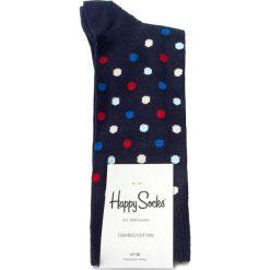 Skarpety Wysokie Męskie HAPPY SOCKS - DOT01-6001  Granatowy. Niebieskie skarpety damskie Happy Socks, z bawełny. Za 34.90 zł.
