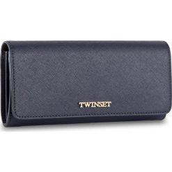 Duży Portfel Damski TWINSET - Portafoglio AS8PGT Blu Scuro 0058S. Niebieskie portfele damskie Twinset, ze skóry. W wyprzedaży za 369.00 zł.