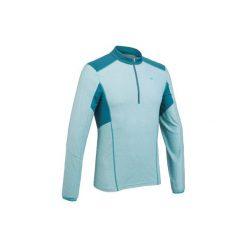 Koszulka turystyczna długi rękaw MH550 męska. Niebieskie bluzki z długim rękawem męskie QUECHUA. W wyprzedaży za 19.99 zł.