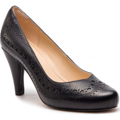 Półbuty CLARKS - Dalia Ruby 261349694  Black Leather. Czarne półbuty damskie Clarks, z materiału. W wyprzedaży za 319.00 zł.