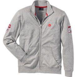 Bluza rozpinana ze stójką Regular Fit bonprix jasnoszary melanż. Bluzy męskie marki KIPSTA. Za 54.99 zł.