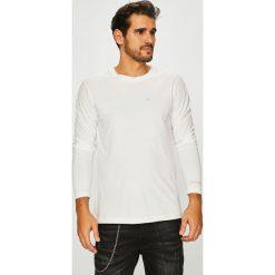 Calvin Klein Jeans - Longsleeve. Szare bluzki z długim rękawem męskie Calvin Klein Jeans, z bawełny, z okrągłym kołnierzem. Za 179.90 zł.