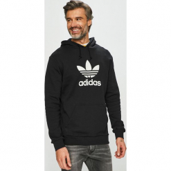 Adidas Originals - Bluza. Czarne bluzy męskie adidas Originals, z nadrukiem, z bawełny. Za 279.90 zł.