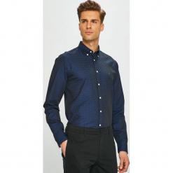 Tommy Hilfiger - Koszula. Czarne koszule męskie Tommy Hilfiger, z bawełny, button down, z długim rękawem. Za 399.90 zł.