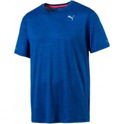 Puma Koszulka Sportowa Epic S S Tee Blue Heather L. Brązowe koszulki sportowe męskie Puma, ze skóry. Za 115.00 zł.