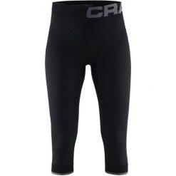 Craft Spodnie Termoaktywne Knickers Warm Intensity Black M. Czarne spodnie snowboardowe damskie Craft, ze skóry, sportowe. W wyprzedaży za 129.00 zł.