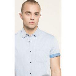 Medicine - Koszula Blue Lagoon. Niebieskie koszule męskie MEDICINE, z bawełny, z klasycznym kołnierzykiem, z krótkim rękawem. W wyprzedaży za 59.90 zł.