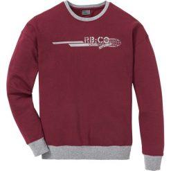 Bluza z opuszczanymi ramionami Regular Fit bonprix bordowy. Czerwone bluzy męskie bonprix, z nadrukiem. Za 74.99 zł.