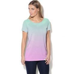 Colour Pleasure Koszulka CP-034 62 turkusowo-różowa r. XXXL-XXXXL. T-shirty damskie marki Colour Pleasure. Za 70.35 zł.