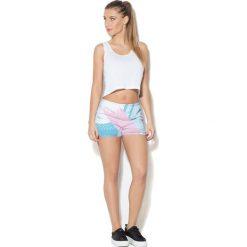 Colour Pleasure Spodnie damskie CP-020 27 biało-niebieskie r. XS/S. Spodnie dresowe damskie marki bonprix. Za 72.34 zł.