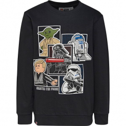 Bluza w kolorze czarnym. Zielone bluzy dla chłopców marki Lego Wear Fashion, z bawełny, z długim rękawem. W wyprzedaży za 45.95 zł.