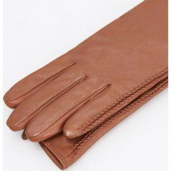 Skórzane rękawiczki - Bordowy. Czerwone rękawiczki damskie Reserved. Za 99.99 zł.