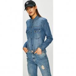 Noisy May - Koszula Kara. Niebieskie koszule damskie Noisy may, z bawełny, casualowe, z dekoltem karo, z długim rękawem. Za 169.90 zł.