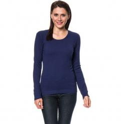 Sweter w kolorze granatowym. Niebieskie swetry damskie Assuili, z kaszmiru, z okrągłym kołnierzem. W wyprzedaży za 113.95 zł.
