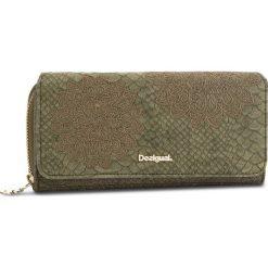 Duży Portfel Damski DESIGUAL - 18WAYP23 4092. Zielone portfele damskie Desigual, ze skóry ekologicznej. W wyprzedaży za 189.00 zł.