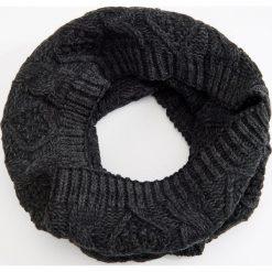 Komin - Szary. Szare szaliki męskie marki Giacomo Conti, na zimę, z tkaniny. W wyprzedaży za 39.99 zł.