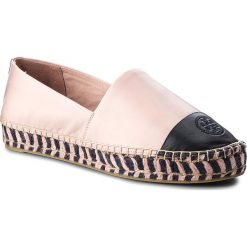 Espadryle TORY BURCH - Color Block Platform 48533 Sea Shell Pink/Perfect Navy 964. Czerwone espadryle damskie Tory Burch, ze skóry. W wyprzedaży za 799.00 zł.