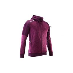 Bluza do biegania RUN WARM+ męska. Fioletowe bluzy męskie KALENJI, z elastanu. Za 119.99 zł.