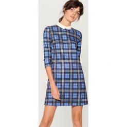 Sukienka w kratę - Niebieski. Niebieskie sukienki damskie Mohito. Za 119.99 zł.