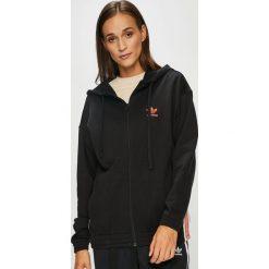 Adidas Originals - Bluza. Czarne bluzy damskie adidas Originals, z bawełny. W wyprzedaży za 219.90 zł.