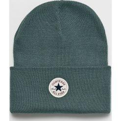 Converse - Czapka. Szare czapki i kapelusze damskie Converse, z dzianiny. Za 89.90 zł.