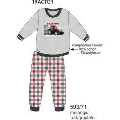 Piżama chłopięca DR 593/71 Tractor Melanż szara r. 128. Szare bielizna dla chłopców Cornette, melanż. Za 49.87 zł.