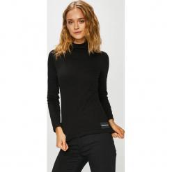 Calvin Klein Jeans - Bluzka. Czarne bluzki damskie Calvin Klein Jeans, z bawełny, z golfem. Za 229.90 zł.
