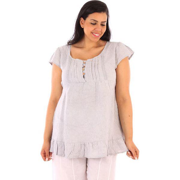 18ac597a2c Lniana tunika w kolorze szarym - Szare tuniki damskie marki Linen ...