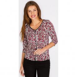 """Koszulka """"Cachette"""" w kolorze czerwonym ze wzorem. Czerwone t-shirty damskie Scottage. W wyprzedaży za 68.95 zł."""