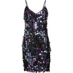 Sukienka z cekinami bonprix czarny. Czarne sukienki damskie bonprix, na ramiączkach. Za 179.99 zł.