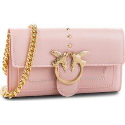 Torebka PINKO - Aliboni Wallet With Shoulder Al 18-19 PLTT 1P2172 Y4YM Light Pink P26. Czerwone torebki do ręki damskie Pinko, ze skóry. Za 829.00 zł.
