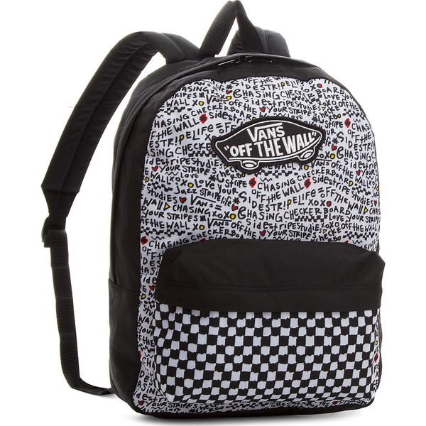 57745c3707797 Plecak VANS - Realm Backpack VN0A3UI6YDP Black Diy - Białe plecaki ...