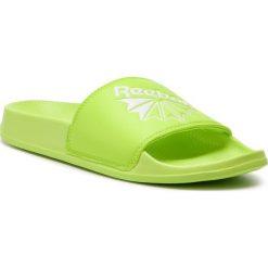 Klapki Reebok - Classic Slide DV4100  Neon Lime/White. Zielone klapki damskie Reebok, ze skóry ekologicznej. Za 129.00 zł.