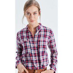 Koszula w drobną kratkę - Fioletowy. Koszule damskie marki SOLOGNAC. Za 59.99 zł.
