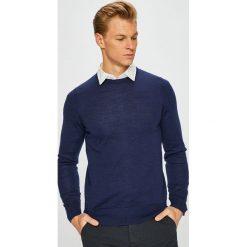 Tommy Hilfiger Tailored - Sweter. Niebieskie swetry przez głowę męskie Tommy Hilfiger Tailored. Za 399.90 zł.