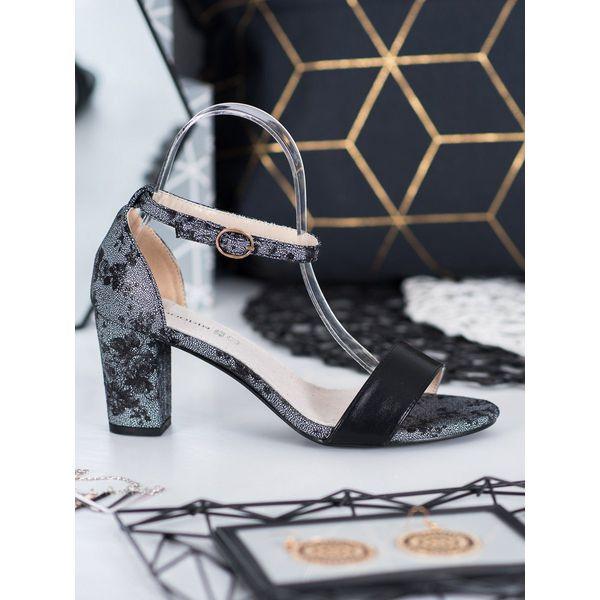 Goodin Stylowe Sandały Z Koronką szare w 2020 | Sandały