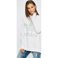 Adidas Originals - Bluza. Szare bluzy damskie adidas Originals, z nadrukiem, z bawełny. W wyprzedaży za 259.90 zł.