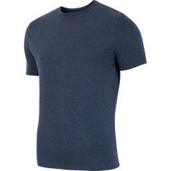 NIE ODKRYWAĆ - ODDAJEMY!!! T-shirt męski  TSM002 - denim melanż. Niebieskie t-shirty męskie 4f, na lato, melanż, z bawełny. W wyprzedaży za 34.99 zł.