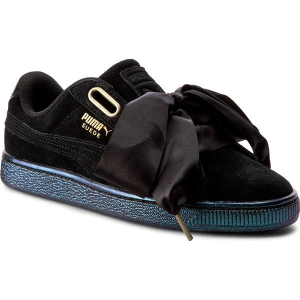 Sneakersy PUMA Suede Heart Satin Wn's 362714 03 Puma BlackPuma Black