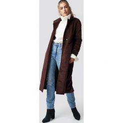 Rut&Circle Płaszcz Gella - Brown. Brązowe płaszcze damskie Rut&Circle. Za 364.95 zł.