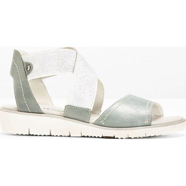 42585df0 Wygodne sandały skórzane bonprix niebieski dżins - Sandały damskie ...
