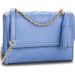 Torebka TORY BURCH - Small Convertible Shoulder Bag 43834 Larkspur 407. Niebieskie torebki do ręki damskie Tory Burch, ze skóry. Za 2,019.00 zł.