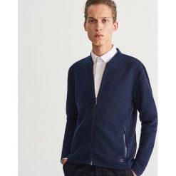 Rozpinana bluza ze stójką - Granatowy. Niebieskie bluzy męskie Reserved. Za 139.99 zł.