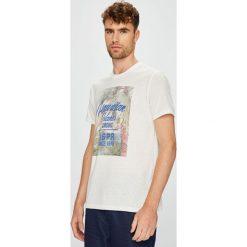 U.S. Polo - T-shirt. Szare koszulki polo męskie U.S. Polo, z nadrukiem, z dzianiny. W wyprzedaży za 129.90 zł.