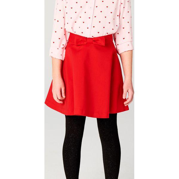 4cfb17761f Rozkloszowana spódnica z kokardką little princess - Czerwony ...